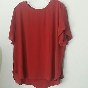Nwt~ Ann Taylor Loft Short Sleeve Fall Blouse XL